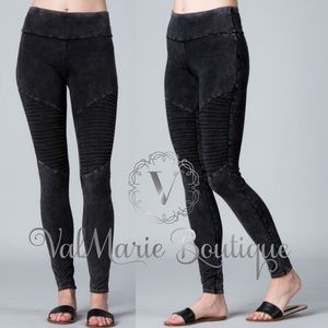 Mineral Washed Leggings / Yoga Pants
